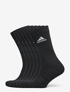 Cushioned Crew Socks 6 Pairs - kousen - black/black/black/bla