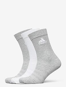 LIGHT CREW 3PP - tavalliset sukat - mgreyh/white/black