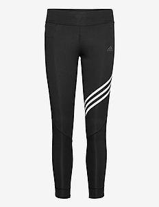 Run It 3-Stripes 7/8 Tights W - juoksu- & treenitrikoot - black