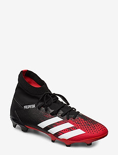 PREDATOR 20.3 FG - football shoes - cblack/ftwwht/actred