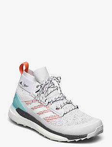 TERREX FREE HIKER PARLEY - hiking/walking shoes - dshgry/ftwwht/truora
