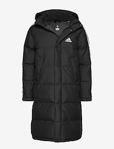 3ST LONG PARKA - dunjackor - black/white/white