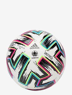 Uniforia Mini Ball - football equipment - white/black/siggnr/br