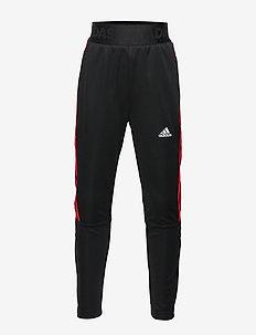 YB TIRO PANT 3S - spodnie dresowe - black/vivred