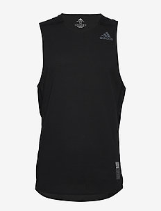 P.BLUE SINGLET - tank tops - black