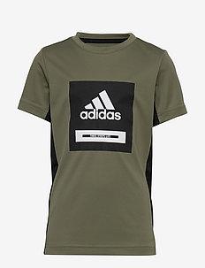 JB TR BOLD TEE - logo - leggrn/black/white