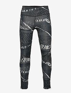JG OT RUN TIGHT - leggings - greone/gresix/black/r