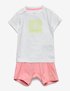 I LOGO SUM SET - short-sleeved - white/yeltin