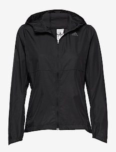 Own The Run Hooded Wind Jacket W - koulutustakit - black