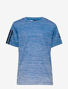 YB TR GRAD TEE - krótki rękaw - blue/white