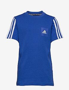JB DMH LOGO TEE - krótki rękaw - blue/white