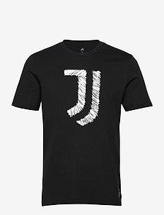 JUVE DNA GR TEE - topy sportowe - black/white