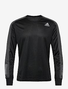 OTR LS M - longsleeved tops - black/gresix