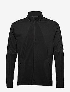 sport wrpkn 1/4 - golf-jacken - black