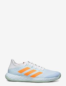 Adizero FastCourt W - indoor sports shoes - skytin/ftwwht/sigorg