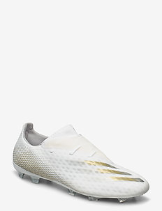 X GHOSTED.2 FG - football shoes - ftwwht/metgol/cblack