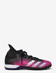 Predator Freak.3 Turf Boots - fodboldsko - cblack/ftwwht/shopnk