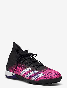 Predator Freak.3 Turf Boots - football shoes - cblack/ftwwht/shopnk