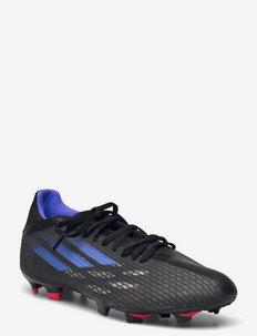 X Speedflow.3 Firm Ground Boots Q3Q4 21 - football boots - cblack/sonink/syello