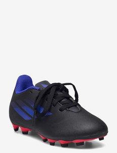 X Speedflow.4 Flexible Ground Boots Q3Q4 21 - sportshoenen - cblack/sonink/syello