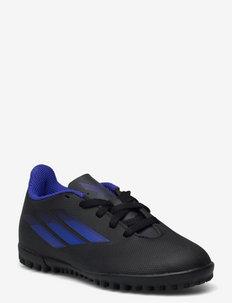 X Speedflow.4 Turf Boots Q3Q4 21 - sportshoenen - cblack/sonink/syello