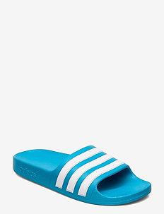 Adilette Aqua Slides - pool sliders - solblu/ftwwht/solblu