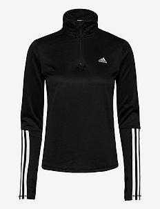 W IW 1/4 LS - sweatshirts - black/white