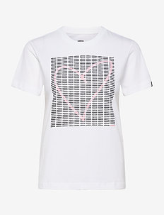W ADI HEART T - t-shirts med tryk - white