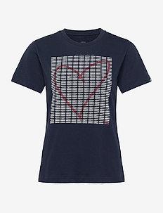 W ADI HEART T - t-shirts med tryk - legink