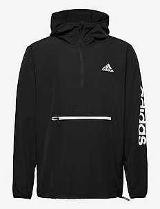 M AT PBL 1/4 WB - anoraks - black/white