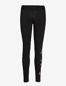 Floral tight W - leggings - black