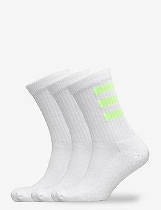 3S HC CREW 3PP - tavalliset sukat - white/white/white/sig