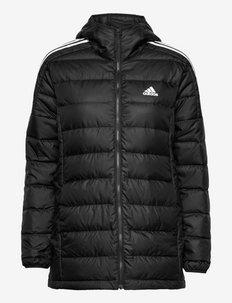 Essentials Light Down Hooded Parka W - trainingsjacken - black