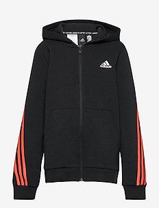3-Stripes Doubleknit Full-Zip Hoodie - kapuzenpullover - black/truora