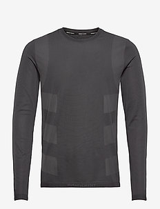 Studio Techfit Seamless Long Sleeve T-Shirt - basic-strickmode - black/gresix