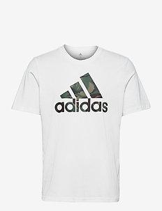 M CAMO T - t-shirts - white/leggrn