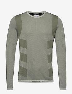 Studio Techfit Seamless Long Sleeve T-Shirt - basic-strickmode - cwhite/wilpin