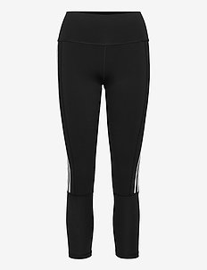 Believe This 2.0 3-Stripes Ribbed 7/8 Tights W - sportleggings - black/white
