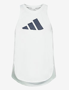 3 Bar Logo Tank Top W - linnen - white/crered/crenav