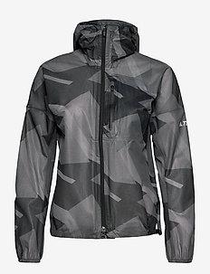 Terrex Agravic Graphic 2.5 Layer Rain Jacket W - outdoor & rain jackets - gresix