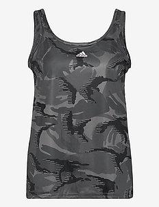 Designed To Move AEROREADY Camouflage-Print Tank Top W - linnen - gresix/white