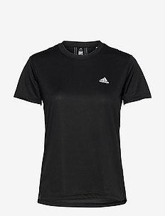 AEROREADY Designed To Move 3-Stripes Sport Tee W - t-shirts - black/white