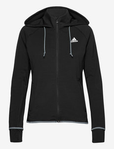 Designed To Move AEROREADY Full-Zip Hoodie W - hupparit - black/white