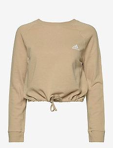 Essentials Cropped Dance Sweatshirt W - sweatshirts - hazbei/white