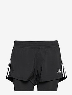 Pacer 3-Stripes Woven Two-in-One Shorts W - training korte broek - black/white