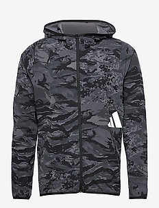 FreeLift Camouflage Training Hoodie - hupparit - black