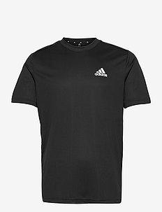 AEROREADY Designed To Move Tee - t-shirts - black/white