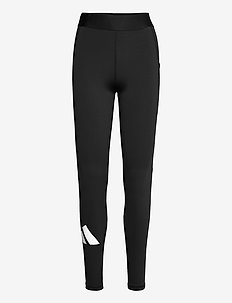 Techfit Life Mid-Rise Badge of Sport Long Tights W - running & training tights - black/black/white