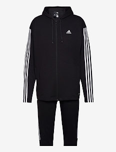 Sportswear Ribbed Insert Track Suit - trainingspakken - black