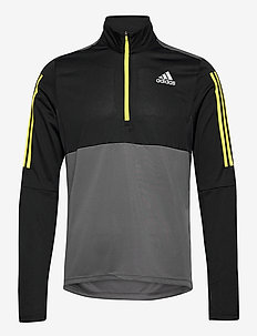 Own The Run Running 1/2 Zip Sweatshirt - perus-college-paitoja - grefiv/black/aciyel